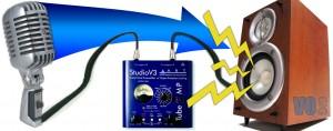 Home studio loud feedback noise